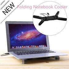 USB Foldable Folding Cool Cooler Cooling Fan Pad w/ 2 Fan for Laptop Notebook EA