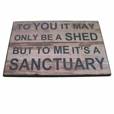 The Man Shed sign, wooden door sign plaque, fathers day secret Santa gift ty3944