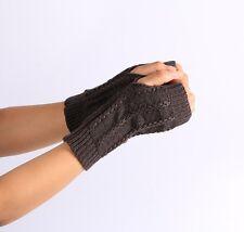 Fashion Knitted Arm Fingerless Winter Gloves Soft Warm Mitten