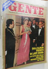 GENTE 10 Maggio 1985 Craxi Ursula Andress Lady Diana in Italia Savoia Mesina di