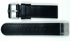 WELDER, BLACK LEATHER STRAP, 23MM, STAINLESS STEEL BUCKLE, FOR K24 & K28 SERIES