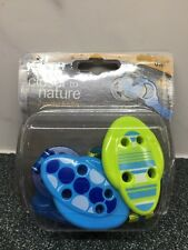 Tommee Tippee Closer to Nature Blue & Green 2 Soother Holders, Dummies Pacifiers