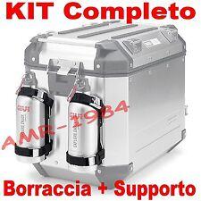 CONJUNTO SOPORTES+BOTELLA GIVI E162 + STF500S ACERO INOXIDABLE x OUTBACK e