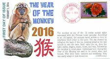 """COVERSCAPE computer generated """"Year of the Monkey 2016"""" U/O FDC"""