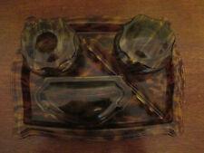 Vintage 1930's/ 1940's Faux Tortoise Shell 5 Piece Dressing Table Set