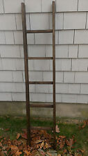 "HANDMADE WEATHERED ALDER WOOD LADDER 5FT RUSTIC 60"" 5 RUNG VINTAGE ORCHARD"