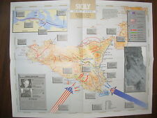 IMAGES OF WAR WWII CAMPAIGN MAP SICILY 10 JULY TO 17 AUGUST 1943
