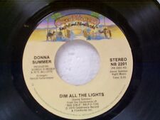 "DONNA SUMMER ""DIM ALL THE LIGHTS / THERE WILL ALWAYS BE A YOU"" 45 NEAR MINT"