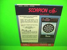 Merit SCORPION WALL Original Vintage 1990 Coin-Op Darts Arcade Game Sales Flyer