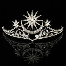 Queen Crystal Crown Tiara Wedding Bridal Star Headband Jewelry Hair Accessories