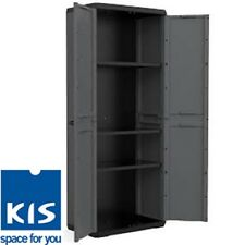 NEW Kis: Piu 3 Shelf High Cabinet with Doors Garage shed cupboard storage units