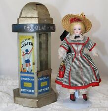 Rare! French Doll Sized Kiosk Advertising Candy Bank - Chocolat Menier!