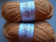 Knit Picks Wool of the Andes 100%wool yarn, Golden Heather,lot of 2 (110 yds ea)
