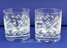 signed Swarovski~ Crystal TUMBLERs ~ boxed set of 2  glasses~ classic gift ~ New
