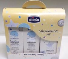 Set Baby Moments Chicco Bagnoschiuma Shampoo Senza Lacrime e Acqua Di Colonia