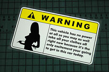 WARNING CLOTHS OFF Sticker Decal Vinyl JDM Euro Drift Lowered illest Fatlace