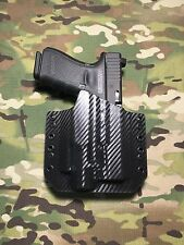 Black Carbon Fiber Kydex Light Holster Glock 19/23 Streamlight TLR-4 Laser Light