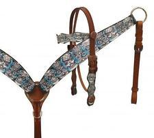 Showman Headstall and Breast Collar Set W/ Sugar Skull Print! NEW HORSE TACK!