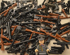 100PCS WW2 / WW1 WEAPON PACK TOY GUNS & WEAPONS INC BRICKARMS + FREE MINIFIGURE