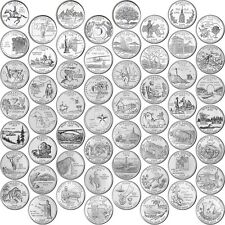 Brilliant Uncirculated 1999-2009 56P & 56D US States & Territories 25 Cents