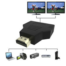 1080P HDMI 1 In 2 Out Splitter Adapter Converter For HDTV PS3 PS4 Xbox Projector