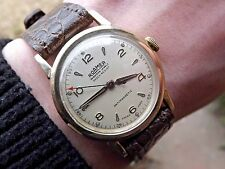 VINTAGE Roamer oro 9 carati medie DRESS WATCH stolkace caso C. anni'40 * Orologio Superbo *