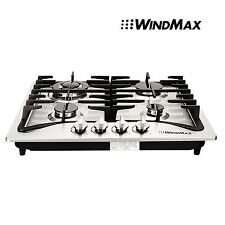 "Windmax 23"" Stainless Steel 4 Burners Built-In Stoves Natural Gas Cooktop Cooker"