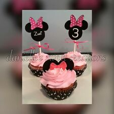 Printable Topper Personalized Minnie Mouse for Cakepop, Cupcake, picks, decor