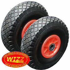 2 x Trolley / Jockey Wheels Foam Filled 260mm (10Inch) Fishing Buggy WIZZ KARTS