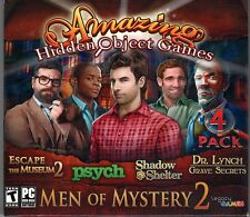 PSYCH + SHADOW SHELTER Hidden Object 4 PACK MEN OF MYSTERY Vol 2 PC Game NEW