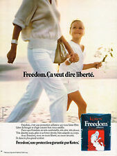 PUBLICITE ADVERTISING  1978   FREEDOM hygiéne féminine