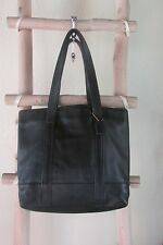 VINTAGE COACH 6509 BLACK LEATHER TOTE / BOOK BAG – SIZE L/XL