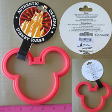 New Authentic Disney Mickey Mouse Flexible Red Silicone Pancake Egg Mold / Ring