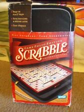 SCRABBLE GAME FOLIO TRAVEL EDITION IN CARRY CASE  PARKER BROTHERS