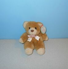 "1996 Cuddle Wit Bean Plush Teddy Bear 7"" Huggy the Bear Stuffed Animal"