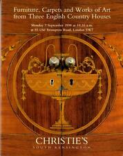 Christie's Auction 7939 Catalog: Furniture/Art from English Country Houses 1998