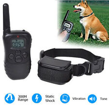 New 300 Meters Waterproof Rechargeable LCD Vibra Remote Pet Dog Training Collar