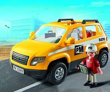 Playmobil City Action site supervisor excavator & car   - New Sealed Box 5532