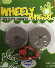 WHEELY MINERAL LICK STONE FOR RABBITS GUNIEA PIGS CHICHILLAS HAMSTERS MICE RATS