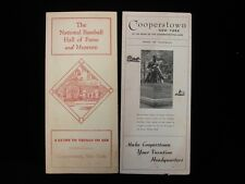 Lot of 2 Different Vintage Cooperstown Baseball Hall of Fame Brochures - EX