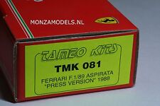 Ferrari f1/89 press version unstarted kit 1:43 Tameo 1988, n BBR AMR