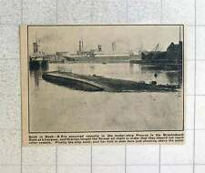 1923 The Motor Ship Pizarro Sinks In Brocklebank Dock At Liverpool