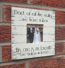 shabby vintage chic dad of all the walks bride gift photo frame personalised