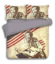On Sale JIMI HENDRIX Rock 3 Pce Queen Size Quilt / Doona Cover Set Licensed NEW
