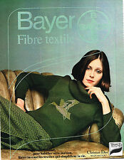 PUBLICITE ADVERTISING 015  1974  BAYER  tricots pour CHRISTIAN DIOR