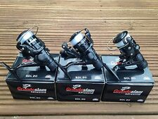 3 X GRANDESLAM SOL 20 BLACK FISHING REELS FOR COARSE RIVER SPINNING FISHING