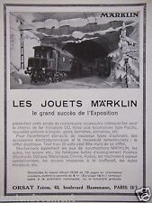 PUBLICITÉ 1937 LES JOUETS MARKLIN ORSAT TRAINS AUTOS AVIONS - ADVERTISING