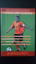 Programme / Programma Holland v Czech Republic 29-03-2003 EC 2004 Qualifier