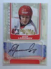 2011-12 ITG Canada vs the world autograph signature SP Igor Larionov