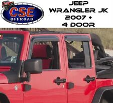 Window Rain Deflector Guards Fits: Jeep Wrangler JK 2007-2017 4 Door 11351.12